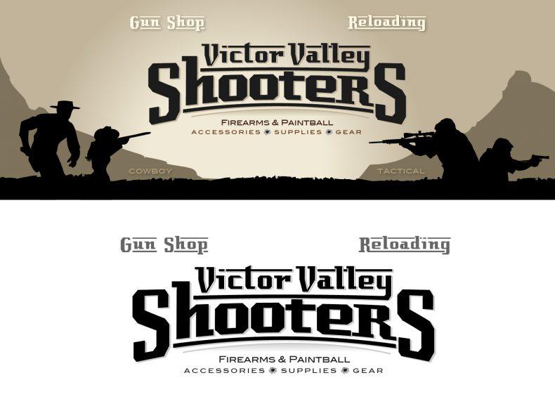 gun shop logo design